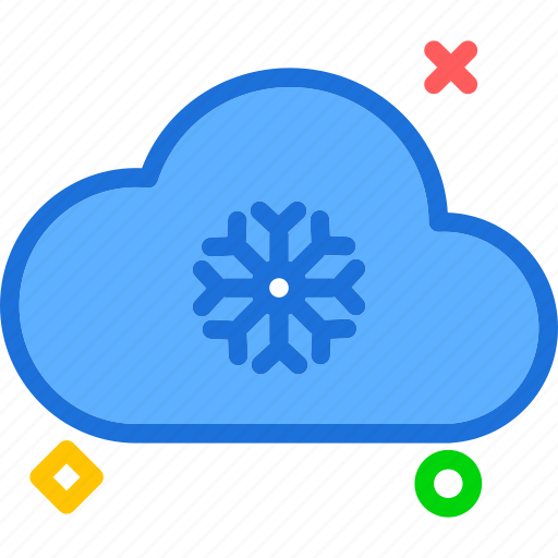 cloud, cloudy, snowflake, snowing, winter icon