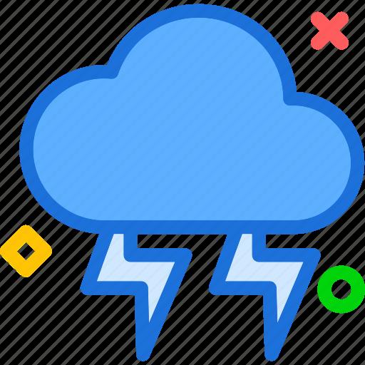 bolt, thunder, weather icon