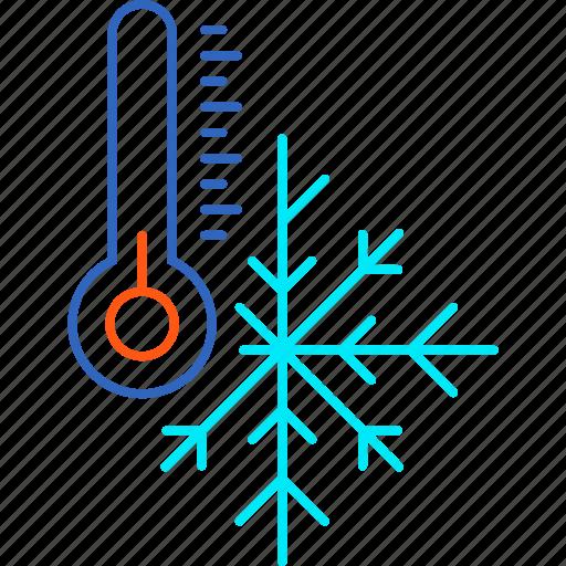 cold, forecast, ice, snow, temperature, weather, winter icon