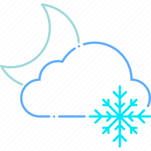 cold, forecast, frost, moon, night, weather, winter icon