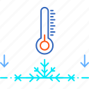 cold, forecast, frost, ground, weather, winter icon