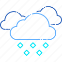 cloud, cloudy, danger, forecast, hail, ice, weather icon