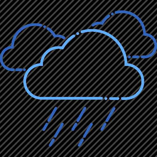 cloud, cloudy, forecast, heavyrain, rain, sun, weather icon