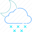 cloud, forecast, moon, night, snow, weather, winter