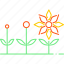 flower, forecast, season, spreading, spring, sun, weather icon
