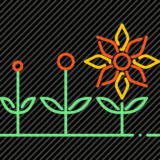 flower, forecast, season, spreading, spring, sun, weather icon