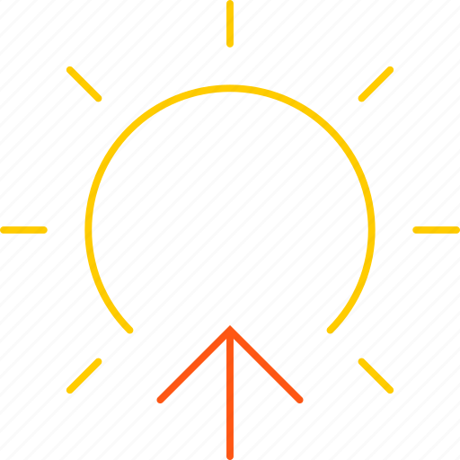 day, forecast, morning, sun, sunrise, weather icon