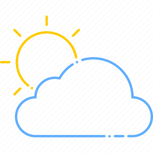 cloud, day, forecast, sun, sunny, weather icon