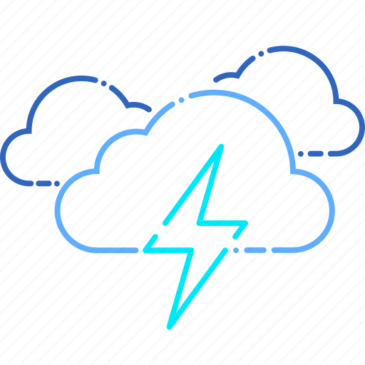 cloud, cloudy, forecast, storm, thunder, thunderstorm, weather icon