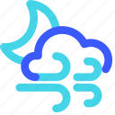 25px, cloudy, iconspace, night, windy icon
