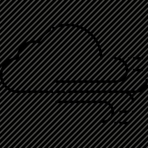 cloud, cloudy, forecast, turmoil, weather, wind icon