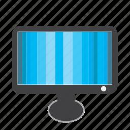 blue, monitor, screen, static, televisoin, tv icon