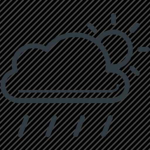cloud, forecast, rain, sun, weather icon