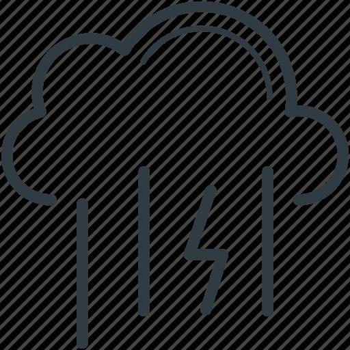 cloud, heavy rain, rainfall, weather icon
