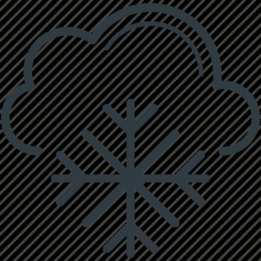 christmas, cloud, snow bunting, snowflake, winter icon