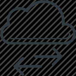cloud, cloud computing, cloud hosting, down arrow, up arrow icon