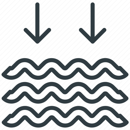 lake, moisture, river, sea, water waves icon
