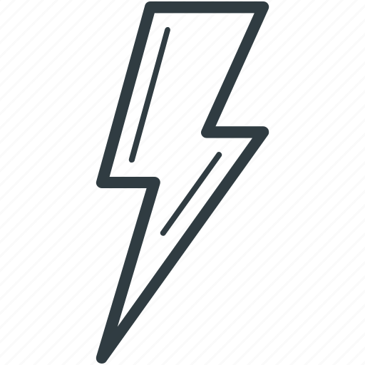 flash sign, lightning, thunder, thunderbolt icon
