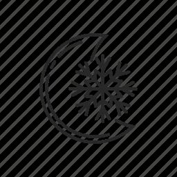 night, snow, weather, winter icon