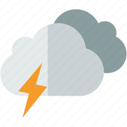 cloud, flash, forecast, weather icon
