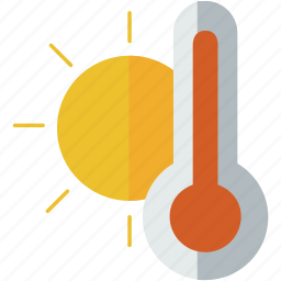forecast, hot, summer, sun, weather icon