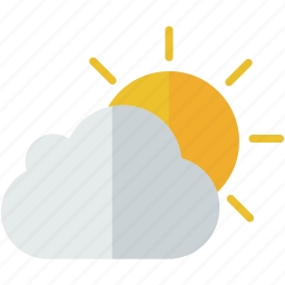 cloud, cloudy, forecast, partly, sun, weather icon