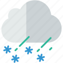 cloud, forecast, rain, sleet, snow, weather icon