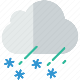 cloud, forecast, rain, sleet, snow, weather icon
