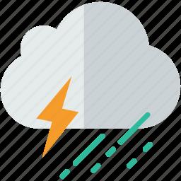 forecast, rain, storm, weather icon