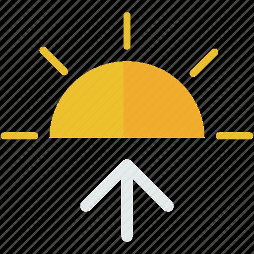 day, forecast, summer, sun, sunrise, weather icon