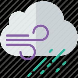 forecast, rain, weather, windy icon
