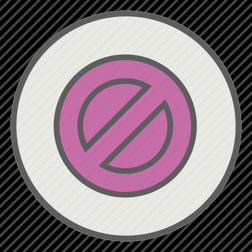 ban, block, close, delete icon