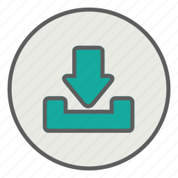 database, disk, download, storage icon