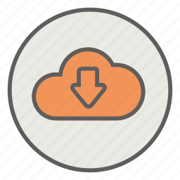 cloud, data, document, download icon