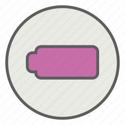 battery, empty, energy, mobile icon
