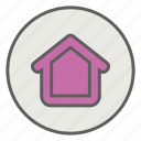 construction, home, shack, villa icon