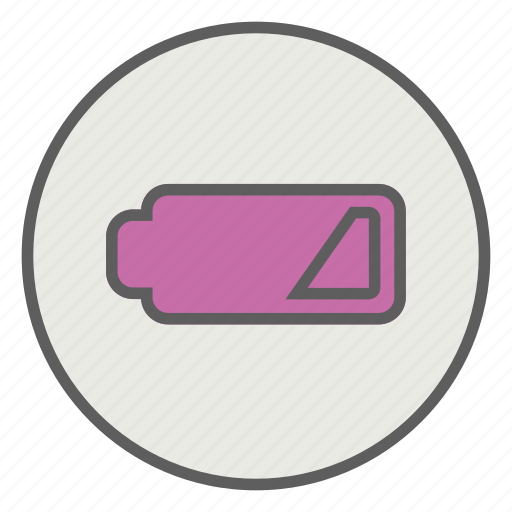 battery, empty, level, low, mobile icon