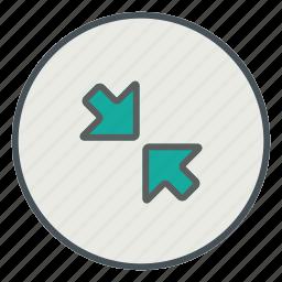 minimize, minus, resize icon
