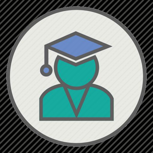 graduate, student, students icon