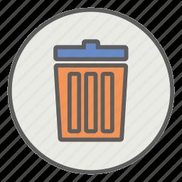 delete, garbage, recycle, remove, trash icon
