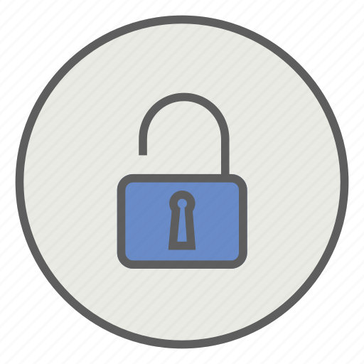 access, protection, safe, secure, unlock icon