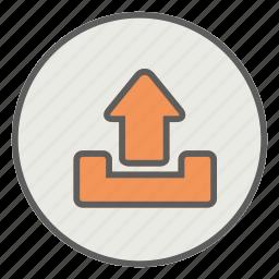database, download, storage, upload icon