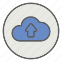 cloud, computing, network, upload icon