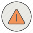 alarm, caution, error, hazard, warning icon
