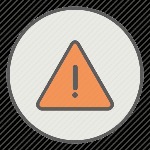alarm, caution, error, hazard, warning icon