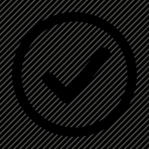 check, circle, mark, ok icon