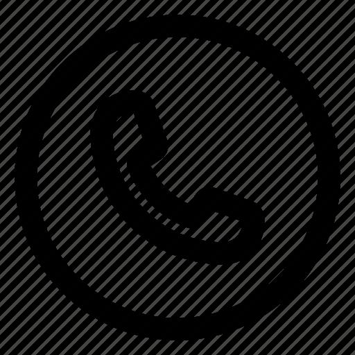 call, circle, communication, phone icon