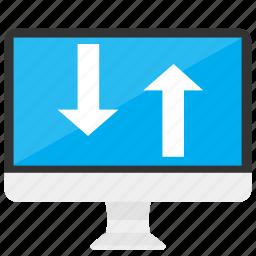 computer, data, device, download, sync, transfer, upload icon