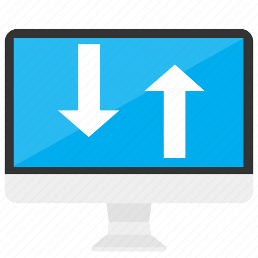 computer, data, device, download, sync, transfer, upload icon