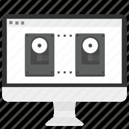 backup, data, database, disk, drive, hard, storage icon